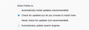 Firefox Auto-updates